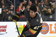 Max Pacioretty #67 of the Vegas Golden Knights shoots during warmups before a preseason game against the Colorado Avalanche at T-Mobile Arena on September 24, 2018 in Las Vegas, Nevada. The Avalanche defeated the Golden Knights 5-3.
