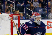 Sergei Bobrovsky #72 of the Columbus Blue Jackets makes a save during the game against the Colorado Avalanche on October 9, 2018 at Nationwide Arena in Columbus, Ohio. Columbus defeated Colorado 5-2.