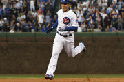 Anthony Rizzo #44 of the Chicago Cubs runs the bases after hitting a home run against the Colorado Rockies on May 1, 2018 at Wrigley Field  in Chicago, Illinois.