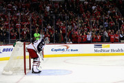 Goalie Sergei Bobrovsky #72 of the Columbus Blue Jackets looks on after giving up the fourth goal of the game to the Washington Capitals in the second period at Verizon Center on January 5, 2017 in Washington, DC.