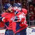 Alex Ovechkin Photos - Evgeny Kuznetsov #92 of the Washington Capitals celebrates with Alex Ovechkin #8 after scoring a second period goal Columbus Blue Jackets during Game Five of the Eastern Conference First Round during the 2018 NHL Stanley Cup Playoffs at Capital One Arena on April 21, 2018 in Washington, DC. - Columbus Blue Jackets vs. Washington Capitals - Game Five