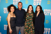 (L-R)  Ilana Glazer, Kent Alterman, Sarah Babineau, and Abbi Jacobson attend Comedy Central's 'Broad City' season five premiere party at Stage 48 on January 22, 2019 in New York City.