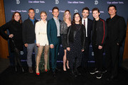 (L-R) Molly Shannon, Kent Alterman, Heléne Yorke, Chris Kelly, Sarah Schneider, Sarah Babineau, Drew Tarver, Case Walker and Ken Marino attend Comedy Central's 'The Other Two' series premiere party at Dream Hotel Downtown on January 17, 2019 in New York City.