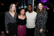 (L-R) Sarah Schneider, Ali Ahn, William Jackson Harper, and D'Arcy Carden attend Comedy Central's 'The Other Two' series premiere party at Dream Hotel Downtown on January 17, 2019 in New York City.