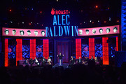 Adam Carolla (C) speaks during the Comedy Central Roast of Alec Baldwin at Saban Theatre on September 07, 2019 in Beverly Hills, California.