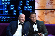 (L-R) Jeff Ross and Blake Griffin attend the Comedy Central Roast of Alec Baldwin at Saban Theatre on September 07, 2019 in Beverly Hills, California.