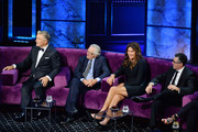 (L-R) Alec Baldwin, Robert De Niro, Caitlyn Jenner and Adam Carolla react onstage during the Comedy Central Roast of Alec Baldwin at Saban Theatre on September 07, 2019 in Beverly Hills, California.