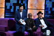 (L-R) Ken Jeong, Chris Redd, and Jeff Ross attend the Comedy Central Roast of Alec Baldwin at Saban Theatre on September 07, 2019 in Beverly Hills, California.