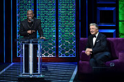 (L-R) Chris Redd roasts Alec Baldwin onstage during the Comedy Central Roast of Alec Baldwin at Saban Theatre on September 07, 2019 in Beverly Hills, California.