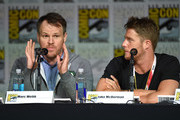 "Director Marc Webb (L) and actor Jake McDorman speak onstage at the CBS TV Studios' panel for ""Limitless"" during Comic-Con International 2015 at the San Diego Convention Center on July 9, 2015 in San Diego, California."
