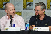 Actor Mike Henry and writer Rich Appel speak onstage at the Seth MacFarlane Animation Block during Comic-Con International 2015 at the San Diego Convention Center on July 11, 2015 in San Diego, California.