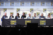 "(L-R) Director James Cameron, producer Gale Anne Hurd, actors Sigourney Weaver, Bill Paxton, Lance Henriksen, Michael Biehn, Paul Reiser, and Carrie Henn attend the ""Aliens: 30th Anniversary"" panel during Comic-Con International 2016 at San Diego Convention Center on July 23, 2016 in San Diego, California."
