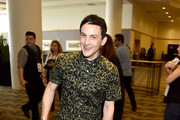 "Actor Robin Lord Taylor attends the ""Gotham"" press line during Comic-Con International 2016 at Hilton Bayfront on July 23, 2016 in San Diego, California."