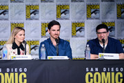 "(L-R) Actors Jennifer Morrison and Colin O'Donoghue and writer/producer Adam Horowitz attend the ""Once Upon A Time"" panel during Comic-Con International 2016 at San Diego Convention Center on July 23, 2016 in San Diego, California."