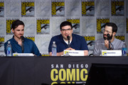 "(L-R) Actor Colin O'Donoghue, writer/producers Adam Horowitz and Edward Kitsis attend the ""Once Upon A Time"" panel during Comic-Con International 2016 at San Diego Convention Center on July 23, 2016 in San Diego, California."