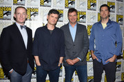 (L-R) Marc Evan Jackson, Michael Schur, Morgan Sackett, and Drew Goddard attend the 'The Good Place' Press Line during Comic-Con International 2018 at Hilton Bayfront on July 21, 2018 in San Diego, California.
