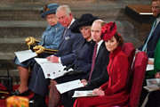 Queen Elizabeth II, Prince Charles, Prince of Wales, Camilla, Duchess of Cornwall, Prince William, Duke of Cambridge and Catherine, Duchess of Cambridge attend the Commonwealth Day Service 2020 on March 9, 2020 in London, England.