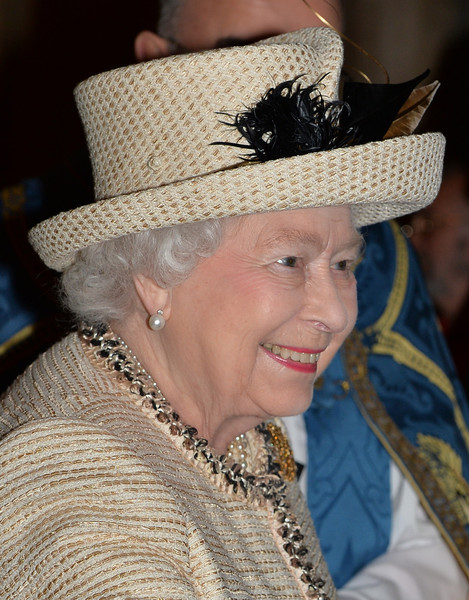 Queen Elizabeth II attends the Observance for Commonwealth Day Service At Westminster Abbey on March 9, 2015 in London, England.
