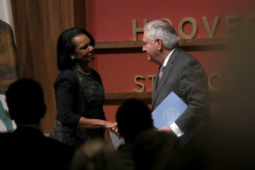 Condoleezza Rice Rex Tillerson Delivers Remarks on U.S.- Syria Policy at Stanford University