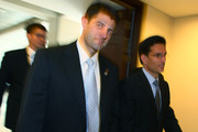 House Budget Committee Chairman U.S. Rep. Paul Ryan (R-WI)(C) and House Majority Leader Eric Cantor (R-VA) walk down a hall at the U.S. Capitol, on August 1, 2011 in Washington, DC. The House of Representatives and the U.S. Senate is expected to vote today on an agreement to extend the federal debt limit and enact spending cuts.