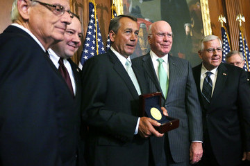 Michael Enzi Congressional Leaders Honor Fresco Painter Of The Capitol Constantino Brumidi