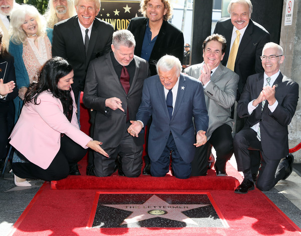 The Letterman Honored With A Star On The Hollywood Walk Of Fame