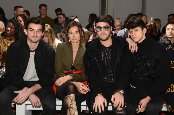 Taoray Wang - Front Row - February 2019 - New York Fashion Week: The Shows [shows,event,fashion,audience,fashion design,premiere,performance,taoray wang - front row,taoray wang,danielle bernstein,jackson krecioch,andrew warren,conor kennedy,the shows at gallery ii,l-r,new york fashion week]