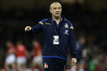 Conor O'Shea Wales vs. Italy - NatWest Six Nations
