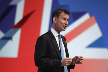 Jeremy Hunt Conservative Party Conference Focuses On The Economy
