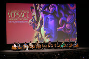 """speaks onstage during the For Your Consideration Event for FX's """"The Assassination of Gianni Versace: American Crime Story"""" at DGA Theater on March 19, 2018 in Los Angeles, California."""