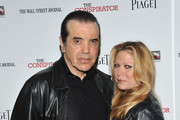 """Actor Chazz Palminteri and Gianna Palminteri attend the New York Premiere of """"The Conspirator"""" at The Museum of Modern Art on April 11, 2011 in New York City."""