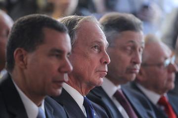 Michael Bloomberg David Paterson Construction At Ground Zero Continues Ahead 9 Year Anniversary of 9/11