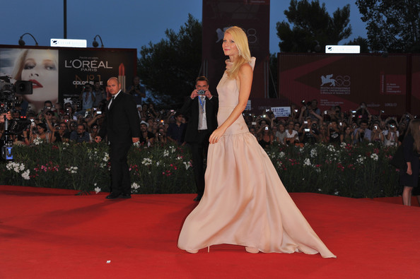 "Actress Gwyneth Paltrow attends the ""Contagion"" premiere during the 68th Venice Film Festival at Palazzo del Cinema on September 3, 2011 in Venice, Italy."