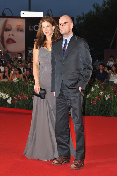 "Director Steven Soderbergh and wife Jules Asner attends the ""Contagion"" premiere during the 68th Venice Film Festival at Palazzo del Cinema on September 3, 2011 in Venice, Italy."
