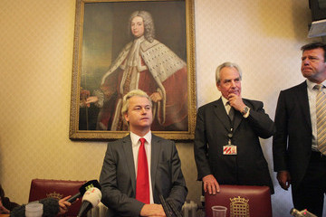 Lord Pearson Controversial Dutch Politician Geert Wilders Arrives In The UK