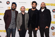 "(L-R) Adeel Akhtar, Simon Fantauzzo, Ray Panthaki and Keri Collins attend the premiere of ""Convenience"" at Curzon Soho on September 21, 2015 in London, England."
