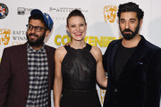 "Adeel Akhtar, Executive Producer Hester Ruoff and Ray Panthaki attend the premiere of ""Convenience"" at Curzon Soho on September 21, 2015 in London, England."