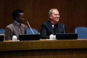 (L-R)  Lupita Nyong'o and Michael Kors attend In Conversation with Michael Kors, Lupita Nyong'o, and the World Food Programme at United Nations Headquarters on October 21, 2019 in New York City.