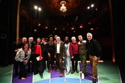 English filmmaker Ken Loach (3rd L), actress Maxine Peake (6th L), Jamelia (7th L) Labour leader Jeremy Corbyn, (C) Labour's Shadow Minister of State for Women and Equalities Dawn Butler (4th R) Labour Party Shadow Chancellor of the Exchequer John McDonnell (3rd R) and Billy Bragg (R) attend the launch of Labour's new charter for the arts at the theatre Royal Stratford East on November 24, 2019 in London, England. Corbyn was joined by music, film and theatre stars to help launch Labour's £1bn 'Arts for All' policy charter.