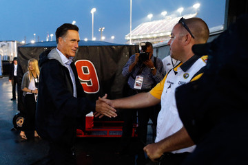 Corey Richardson Mitt Romney Visits NASCAR in Virginia