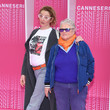 "Corinne Masiero ""Aqui En La Tierra"" and ""Cacciatore The Hunter"" Pink Carpet Arrivals - The 1st Cannes International Series Festival"