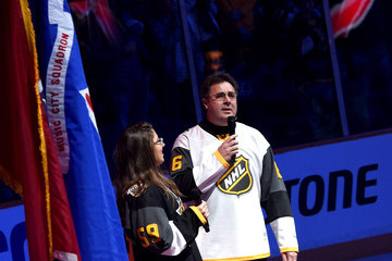 Corrina Grant Gill Celebrities Attend the 2016 NHL All-Star Game