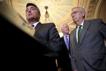 Cory Gardner Senate Lawmakers Speak to the Media After Their Weekly Policy Luncheons