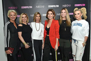 (L-R) Dorinda Medley, Ramona Singer, Carole Radziwill, Cosmopolitan Editor-in-Chief Michele Promaulayko, Heather Thomson, and Tinsley Mortimer attend the opening of fitness space NEO U on February 22, 2018 in New York City.