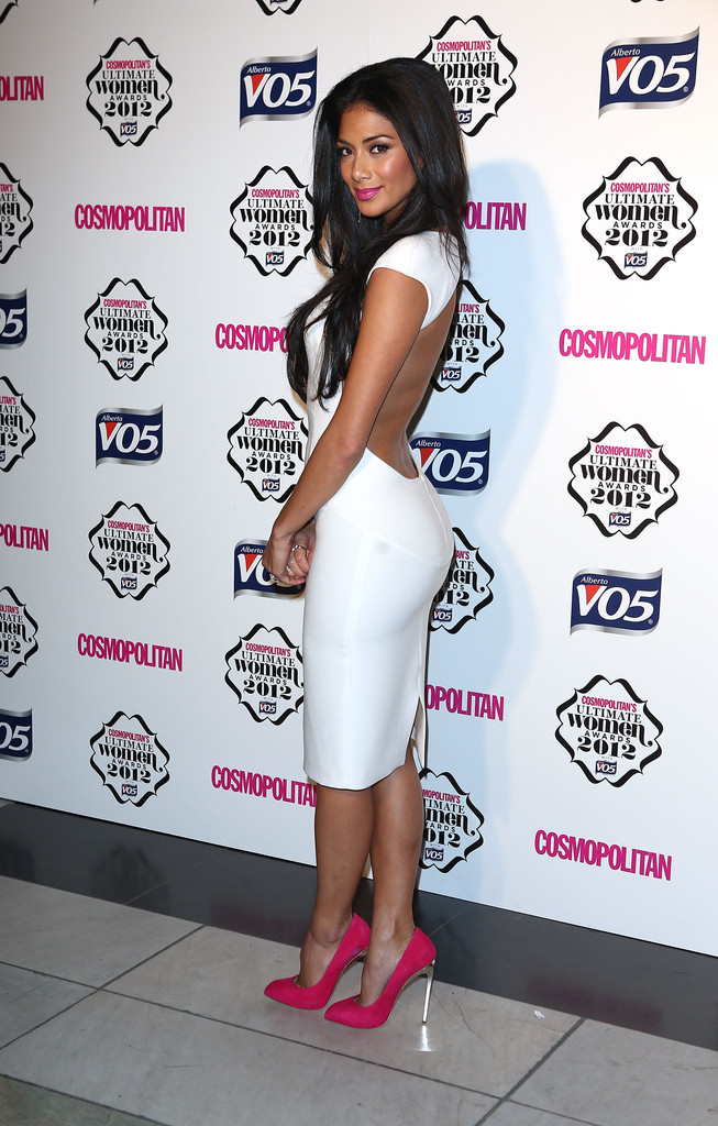 Nicole Scherzinger attends the Cosmopolitan Ultimate Woman of the Year awards at Victoria & Albert Museum on October 30, 2012 in London, England.