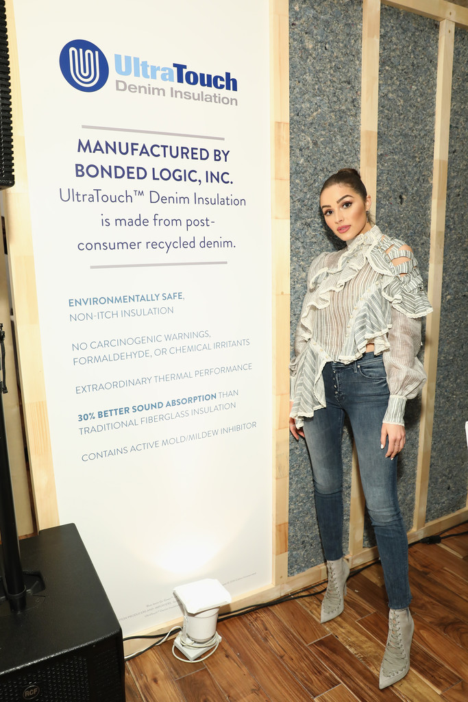 olivia culpo photos photos cotton celebrates 10 years of the blue jeans go green denim recycling program with a popup gallery zimbio