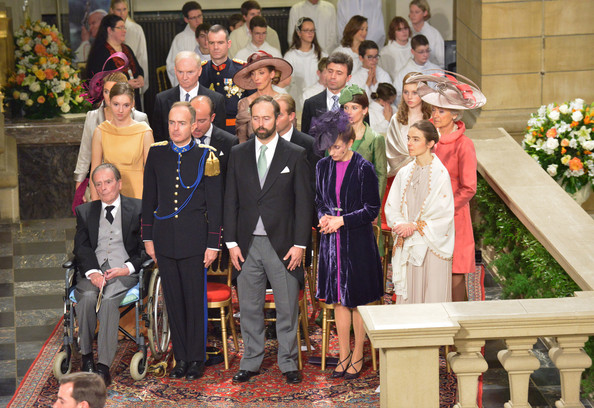 The Wedding Of Prince Guillaume Of Luxembourg & Stephanie de Lannoy - Official Ceremony [ceremony,event,ritual,tradition,rite,temple,marriage,guillaume of luxembourg stephanie de lannoy - official ceremony,stephanie de lannoy,jehan de lannoy,prince,belgian countess,l-r,sales,handout image,luxembourg,wedding]