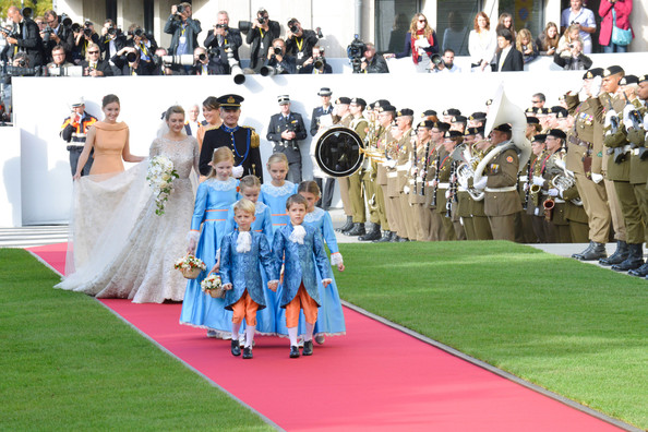 The Wedding Of Prince Guillaume Of Luxembourg & Stephanie de Lannoy - Official Ceremony [red carpet,event,ceremony,flooring,carpet,dress,marriage,premiere,wedding,gown,guillaume of luxembourg stephanie de lannoy - official ceremony,stephanie de lannoy,jehan de lannoy,alexandra,antonia hamilton,prince,h.r.h.,sales,luxembourg,wedding]