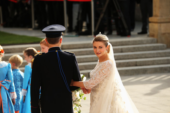 The Wedding Of Prince Guillaume Of Luxembourg & Stephanie de Lannoy - Official Ceremony [photograph,bride,dress,ceremony,gown,marriage,wedding dress,wedding,tradition,event,wedding,wedding ceremony,luxembourg,church,stephanie,guillaume of luxembourg stephanie de lannoy - official ceremony,jehan de lannoy,prince,belgian countess,guillaume of luxembourg]
