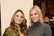 Heather Thomson (L) and Kristen Taekman attend the debut of Countess Luann de Lesseps' newest clothing line Cruise 2015 at the Resident Magazine's New Year Edition launch event at Murals on 54 at the Warwick Hotel on January 22, 2015 in New York City.